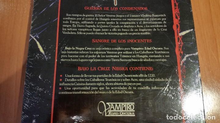 Juegos Antiguos: Bajo La Negra Cruz de Vampiro Edad Oscura - Mundo de Tinieblas - Vampiro Mascarada - ROL - Foto 2 - 113585923