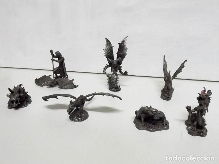Juegos Antiguos: 7 figuras de Dragones y Criaturas Fantásticas, Planeta, de plomo. Más de 70 euros - Foto 2 - 76849331
