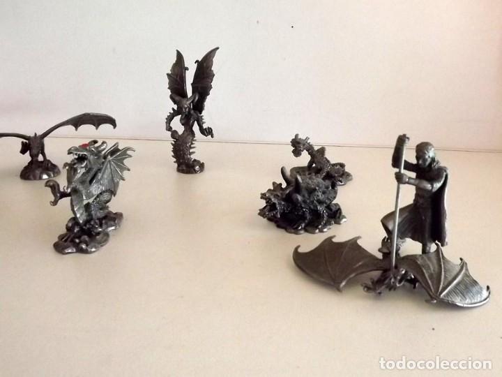 Juegos Antiguos: 7 figuras de Dragones y Criaturas Fantásticas, Planeta, de plomo. Más de 70 euros - Foto 3 - 76849331