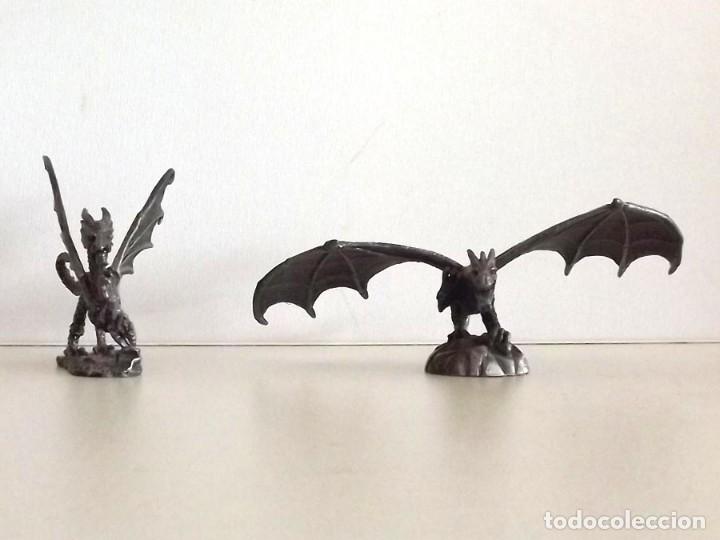 Juegos Antiguos: 7 figuras de Dragones y Criaturas Fantásticas, Planeta, de plomo. Más de 70 euros - Foto 5 - 76849331