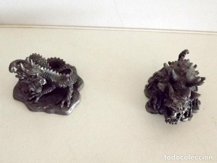 Juegos Antiguos: 7 figuras de Dragones y Criaturas Fantásticas, Planeta, de plomo. Más de 70 euros - Foto 6 - 76849331