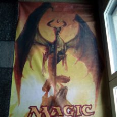 Juegos Antiguos: GRAN BANDERA DE TELA MAGIC THE GATHERING WIZARDS 140X70. Lote 115295219