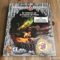 Juegos Antiguos: DUNGEONS & DRAGONS - EL MISTERIO DE LA ESPADA DE PLATA - JUEGO ROL BORRAS TSR PRECINTADO - BASIC D&D. Lote 115341215