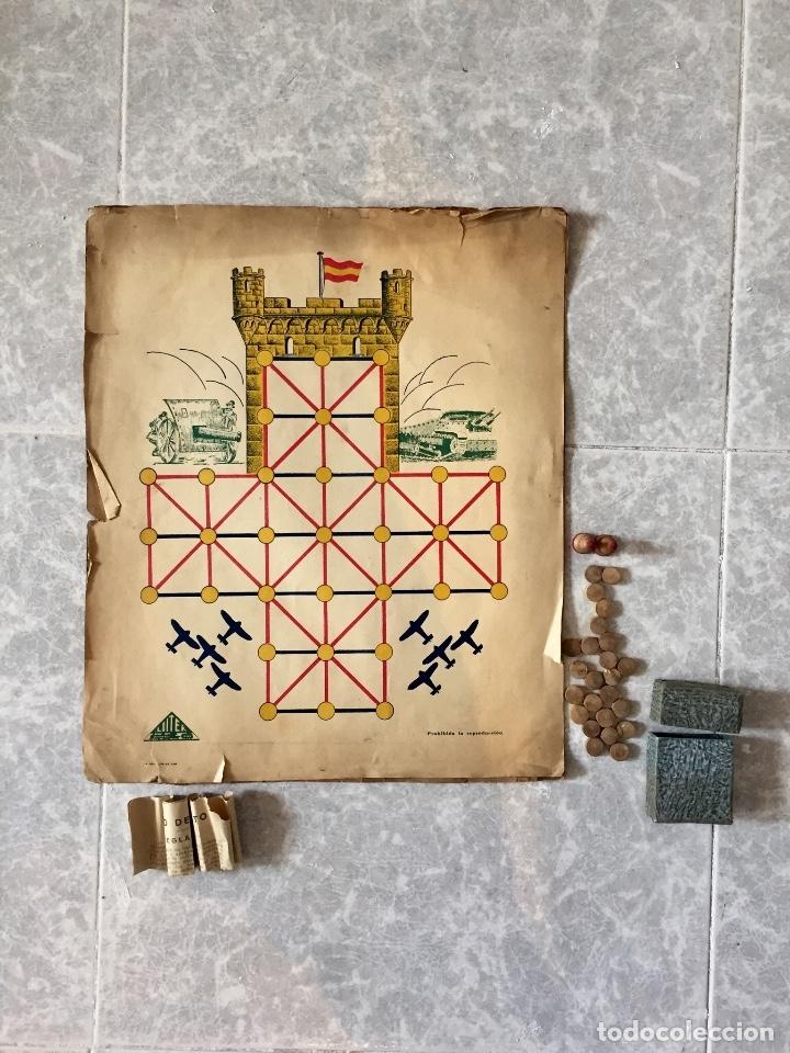 ANTIGUO JUEGO EL ASALTO AL CASTILLO 1920 ORIGINAL COMPLETO PEONES GENERALES INSTRUCCIONES LUITER (Juguetes - Rol y Estrategia - Otros)