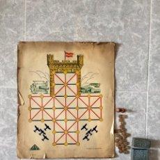 Juegos Antiguos: ANTIGUO JUEGO EL ASALTO AL CASTILLO 1920 ORIGINAL COMPLETO PEONES GENERALES INSTRUCCIONES LUITER. Lote 116243195