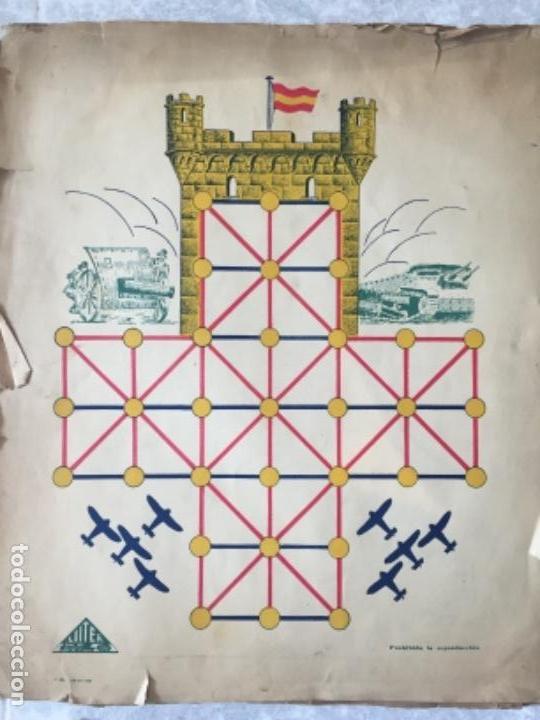 Juegos Antiguos: Antiguo juego el asalto al castillo 1920 original completo peones generales instrucciones luiter - Foto 2 - 178833910