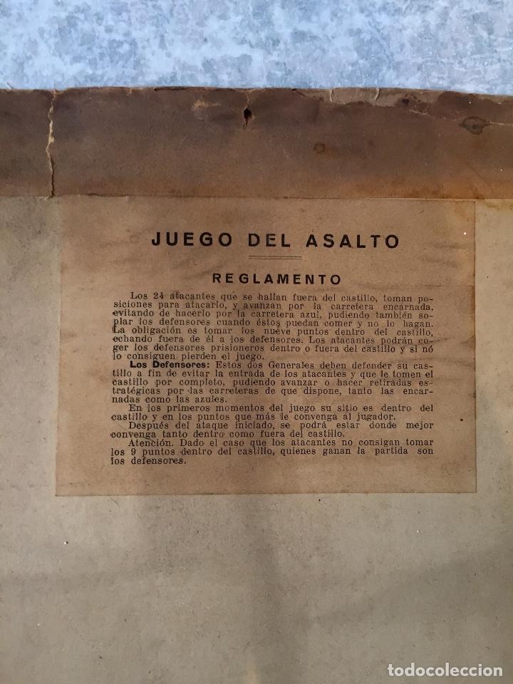 Juegos Antiguos: Antiguo juego el asalto al castillo 1920 original completo peones generales instrucciones luiter - Foto 14 - 178833910