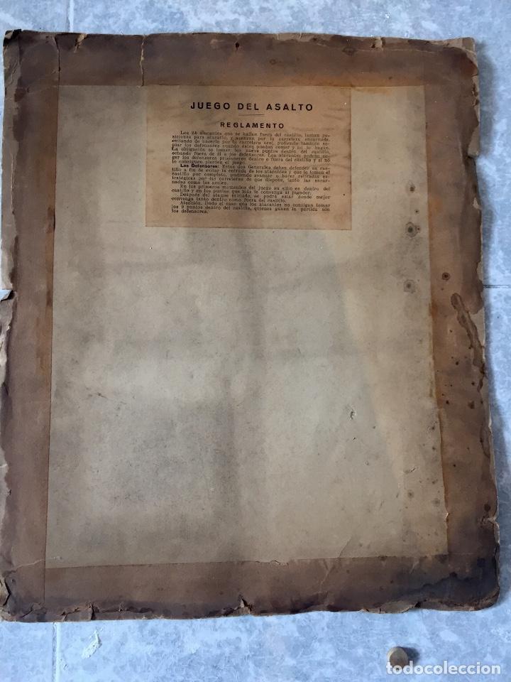 Juegos Antiguos: Antiguo juego el asalto al castillo 1920 original completo peones generales instrucciones luiter - Foto 15 - 178833910