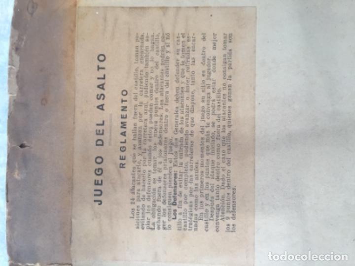 Juegos Antiguos: Antiguo juego el asalto al castillo 1920 original completo peones generales instrucciones luiter - Foto 16 - 178833910