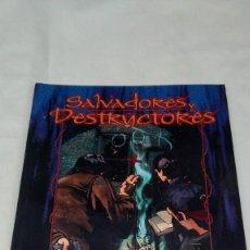 Juegos Antiguos: SALVADORES Y DESTRUCTORES SUPLEMENTO PARA DEMONIO LA CAIDA DE LA FACTORIA DE IDEAS. Lote 144242974