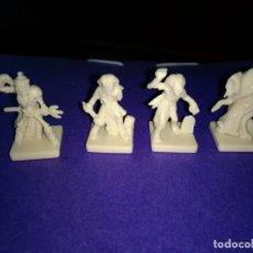 Juegos Antiguos: LOTE 4 FIGURAS DEL JUEGO DE MESA O ROL DUNGEONS DRAGONS DE PARKER-HASBRO . Lote 120240079