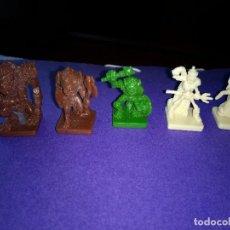 Juegos Antiguos: LOTE 5 FIGURAS DEL JUEGO DE MESA O ROL DUNGEONS DRAGONS DE PARKER-HASBRO . Lote 120240311