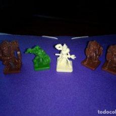 Juegos Antiguos: LOTE 5 FIGURAS DEL JUEGO DE MESA O ROL DUNGEONS DRAGONS DE PARKER-HASBRO . Lote 120240371