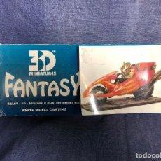 Juegos Antiguos: FIGURA PLOMO COP RIDER RAIDER MARCA FANTASY 3D MINIATURES FABRICADA ESPAÑA CIBERPUNK F 001 NUEVO. Lote 120808355