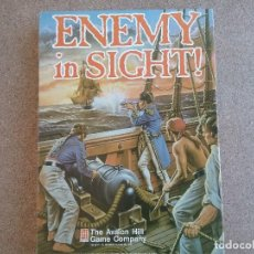 Juegos Antiguos: ENEMY IN SIGHT DE AVALON HILL, WARGAME NAVAL DE CARTAS.. Lote 121016143