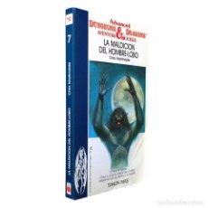 Juegos Antiguos: ADVANCED DUNGEONS & DRAGONS Nº 7 / LA MALDICIÓN DEL HOMBRE LOBO / TIMUN MAS TSR RPG 1987. Lote 121969475