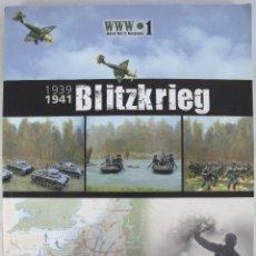 Juegos Antiguos: COLECCION WORLD WAR II WARGAMES 1. 1939-1941 BLITZKRIEG. REGLAMENTO DE JUEGOS DE GUERRA EN INGLES. Lote 122790391
