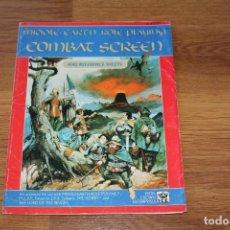 Juegos Antiguos: PANTALLA DE COMBATE SEÑOR ANILLOS MERP 1989 INGLÉS ICE IRON CROWN TIERRA MEDIA JUEGO ROL. Lote 126773563