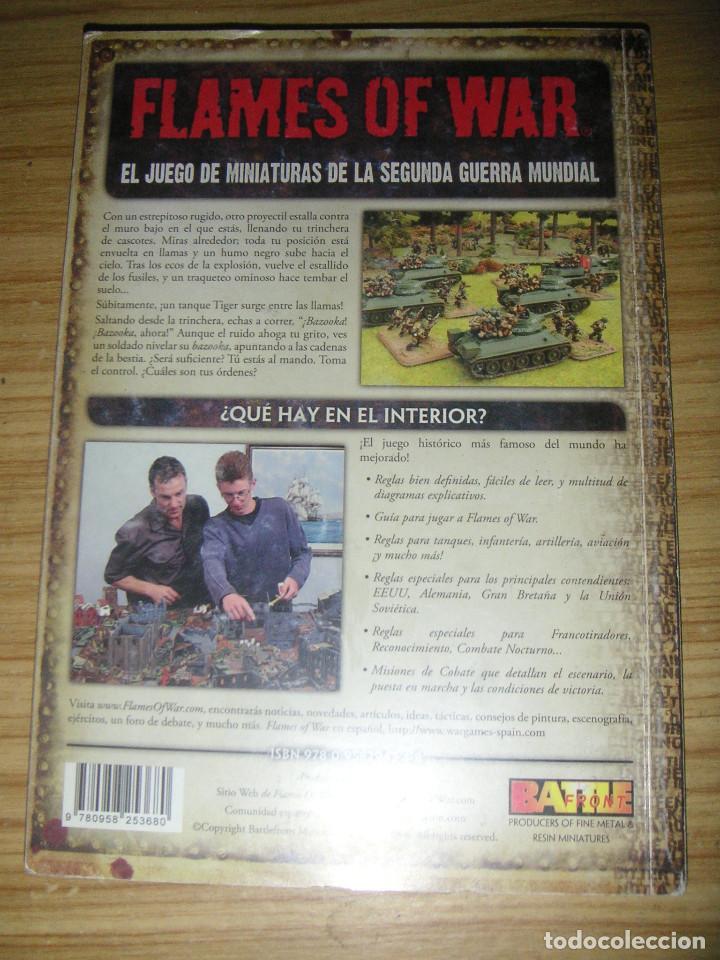 Juegos Antiguos: Flames of war (El juego de miniaturas de la 2ª guerra mundial) libro de reglas en castellano - Foto 2 - 127148787