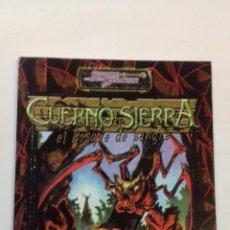Juegos Antiguos: CUERNO DE SIERRA SUPLEMENTO DE ROL DE TIERRAS HERIDAS PARA AD&D 3.0. NUEVO DE LA FACTORÍA. Lote 128597579