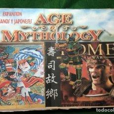 Juegos Antiguos: EXPANSION ROMANOS Y JAPONESES DE AGE OF MYTHOLOGY. Lote 130069311