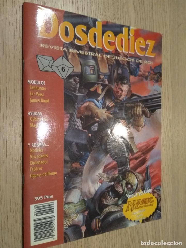 DOSDEDIEZ. REVISTA BIMESTRAL DE JUEGOS DE ROL. 6. 1993. LA FACTORIA (Juguetes - Rol y Estrategia - Juegos de Rol)
