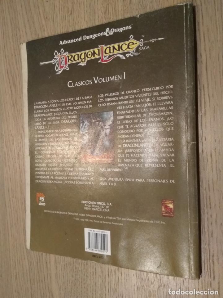 Juegos Antiguos: DRAGON LANCE. CLASICOS VOLUMEN I. CUATRO AVENTURAS OFICIALES DEL JUEGO. ZINCO. 1992 - Foto 3 - 131013940