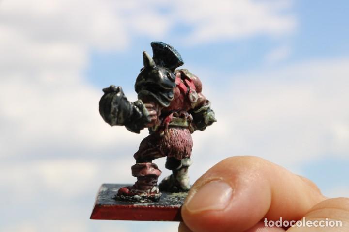 Juegos Antiguos: Blood Bowl miniatura big guy Ogro metal original star player Games Workshop warhammer citadel figura - Foto 3 - 131627534