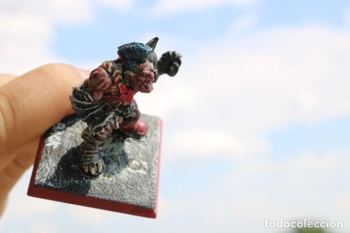 Juegos Antiguos: Blood Bowl miniatura big guy Ogro metal original star player Games Workshop warhammer citadel figura - Foto 4 - 131627534