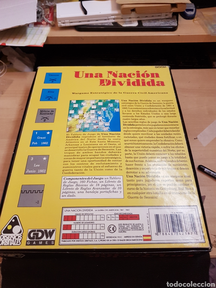 Juegos Antiguos: DISEÑOS ORBITALES WARGAME UNA NACION DIVIDIDA - Foto 2 - 132340986