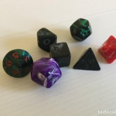 Juegos Antiguos: LOTE DE 7 DADOS DE ROL – AÑOS 90. Lote 133003762