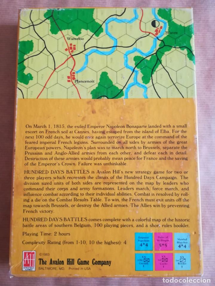 Juegos Antiguos: Hundred Days Battle by Avalon Hill Napoleonic Board War Game - Foto 19 - 133032850