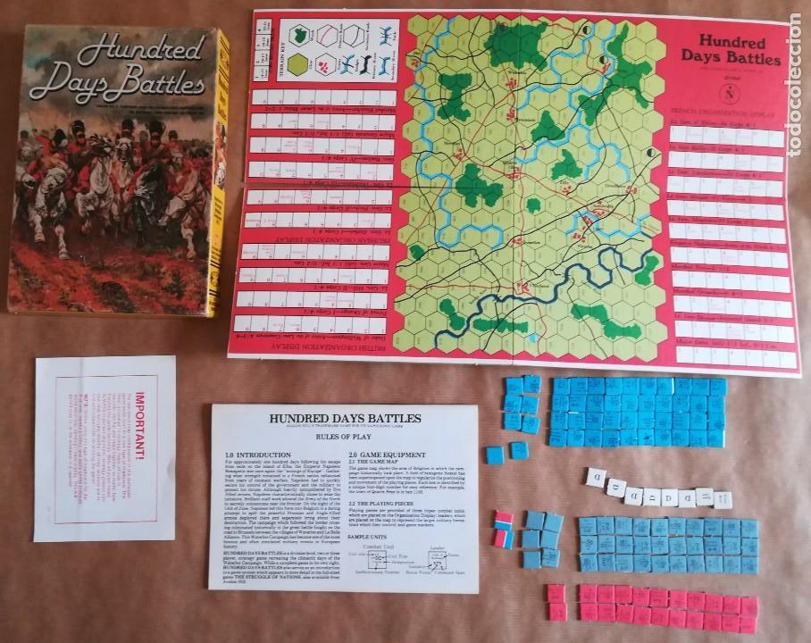 HUNDRED DAYS BATTLE BY AVALON HILL NAPOLEONIC BOARD WAR GAME (Juguetes - Rol y Estrategia - Otros)