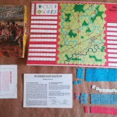 Juegos Antiguos: HUNDRED DAYS BATTLE BY AVALON HILL NAPOLEONIC BOARD WAR GAME. Lote 133032850