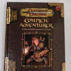 Juegos Antiguos: COMPLETE ADVENTURER D&D 3.5 SUPLEMENTO DE ROL DUNGEONS AND DRAGONS WOTC NUEVO . Lote 133544218