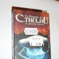 Juegos Antiguos: LA LLAMADA DE CTHULHU EL JUEGO DE CARTAS - ASYLUM PACK - LAMENTOS DESDE EL SUBSUELO - OFERTA. Lote 133563810
