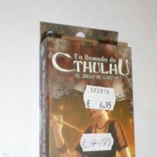 Juegos Antiguos: LA LLAMADA DE CTHULHU EL JUEGO DE CARTAS - ASYLUM PACK - EN BUSCA DE LA LLEVE DE PLATA - OFERTA. Lote 133564198