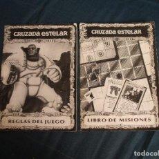 Juegos Antiguos: CRUZADA ESTELAR, PIEZAS SUELTAS: REGLAS Y MISIONES (ENVÍO YA INCLUIDO EN PRECIO). Lote 136396138