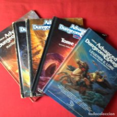 Juegos Antiguos: ADVANCED DUNGEONS DRAGONS PLAYER´S HANDBOOK, MASTERS GUIDE, LEGENDS LORE, TOME MAGIC, MANUAL PLANES. Lote 138097950