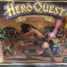 Juegos Antiguos: JUEGO MESA ROL HEROQUEST HERO QUEST VERSION AMPLIADA COMPLETO + 2 LIBROS DE RETOS MORCAR Y KELLAR. Lote 139549134