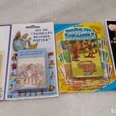 Juegos Antiguos: LOTE DE CUATRO BARJAS DE CARTAS INFANTILIS. Lote 139628078