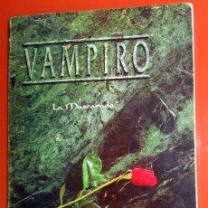 Juegos Antiguos: LIBRO JUEGO DE ROL - VAMPIRO. LA MASCARADA - DISEÑOS ORBITALES - WHITE WOLF - PRIMERA EDICIÓN 1992. Lote 139835362