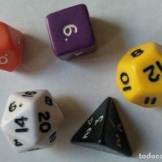 Juegos Antiguos: LOTE 5 DADOS DE ROL. Lote 140508798