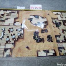 Juegos Antiguos: BASE DE JUEGO PAPEL STAR WARS MINIATURES WIZARDS LUCASFILM MINIATURE TERRAIN MAP 2005. Lote 140980226