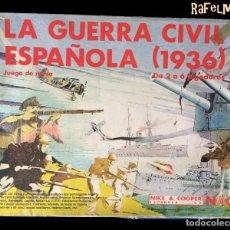 Juegos Antiguos: LA GUERRA CIVIL ESPAÑOLA (1936) - JUEGOS DE GUERRA NAC - VER FOTOS. Lote 142199618