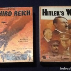 Juegos Antiguos: THIRD REICH Y HITLERS WAR - AVALION HILL GAMES COMPLETOS UK. Lote 144135062