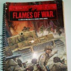 Juegos Antiguos: FLAMES OF WAR CUADERNO INSTRUCCIONES REGLAMENTO ESPAÑOL. Lote 144712200