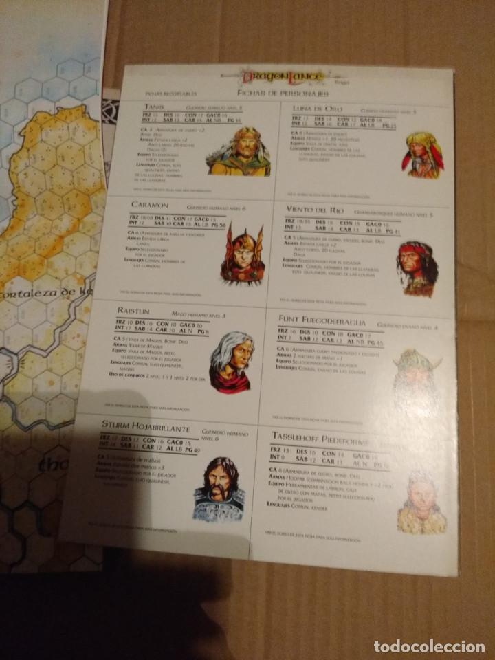 Juegos Antiguos: DRAGON LANCE : CLASICOS VOLUMEN 1 ( CONTIENE MAPA DE PARAMOS + MAPA DRAGON LANCE - Foto 3 - 145333962