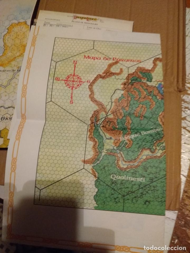 Juegos Antiguos: DRAGON LANCE : CLASICOS VOLUMEN 1 ( CONTIENE MAPA DE PARAMOS + MAPA DRAGON LANCE - Foto 5 - 145333962