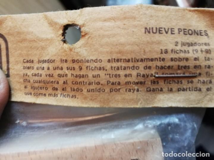 Juegos Antiguos: JUEGO NUEVE PEONES ARTESANO - Foto 2 - 145552614